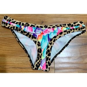 Victoria's Secret Multicolor Cheetah Cheeky Bottom